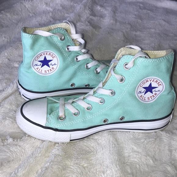 2504fef184a96e Converse Shoes - Converse all star high top sneakers beach glass